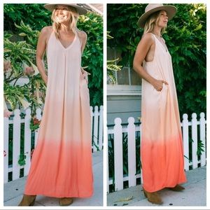 NWT Lovestitch Save The Reefs Coral Maxi Dress S